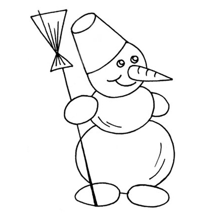 Рисунки про новый год для срисовки (4)