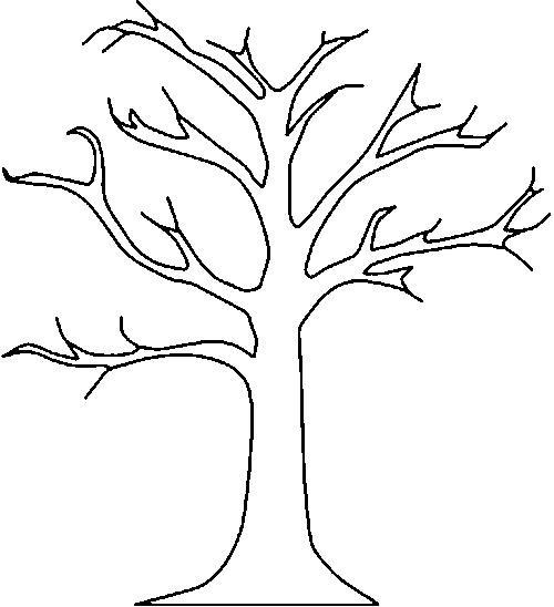 Дерево вытынанка шаблон 001