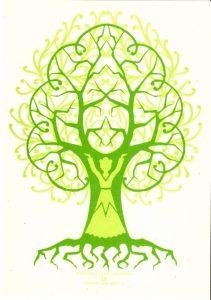 Дерево вытынанка шаблон 026