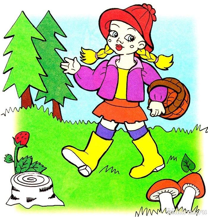 Картинки для детей девочка в лесу 001