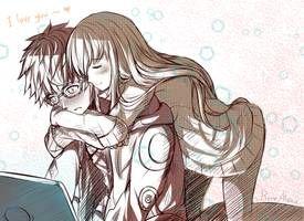 Милые картинки аниме пары (12)