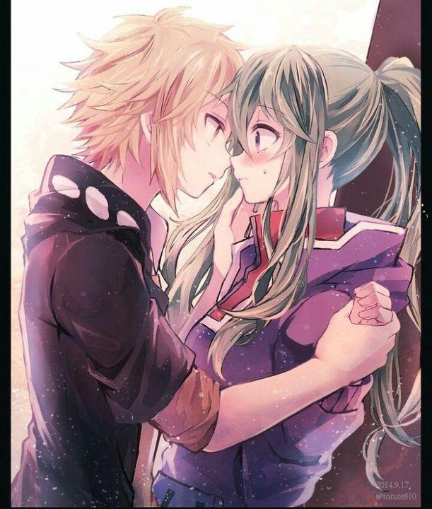 Милые картинки аниме пары (13)
