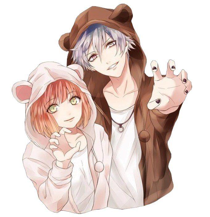 Милые картинки аниме пары (15)