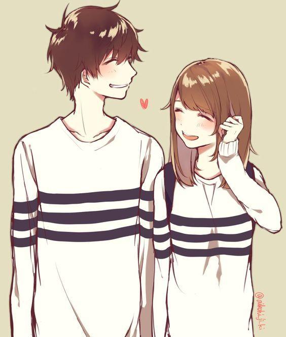 Милые картинки аниме пары (17)