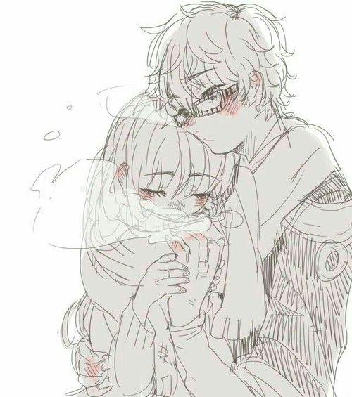 Милые картинки аниме пары (23)