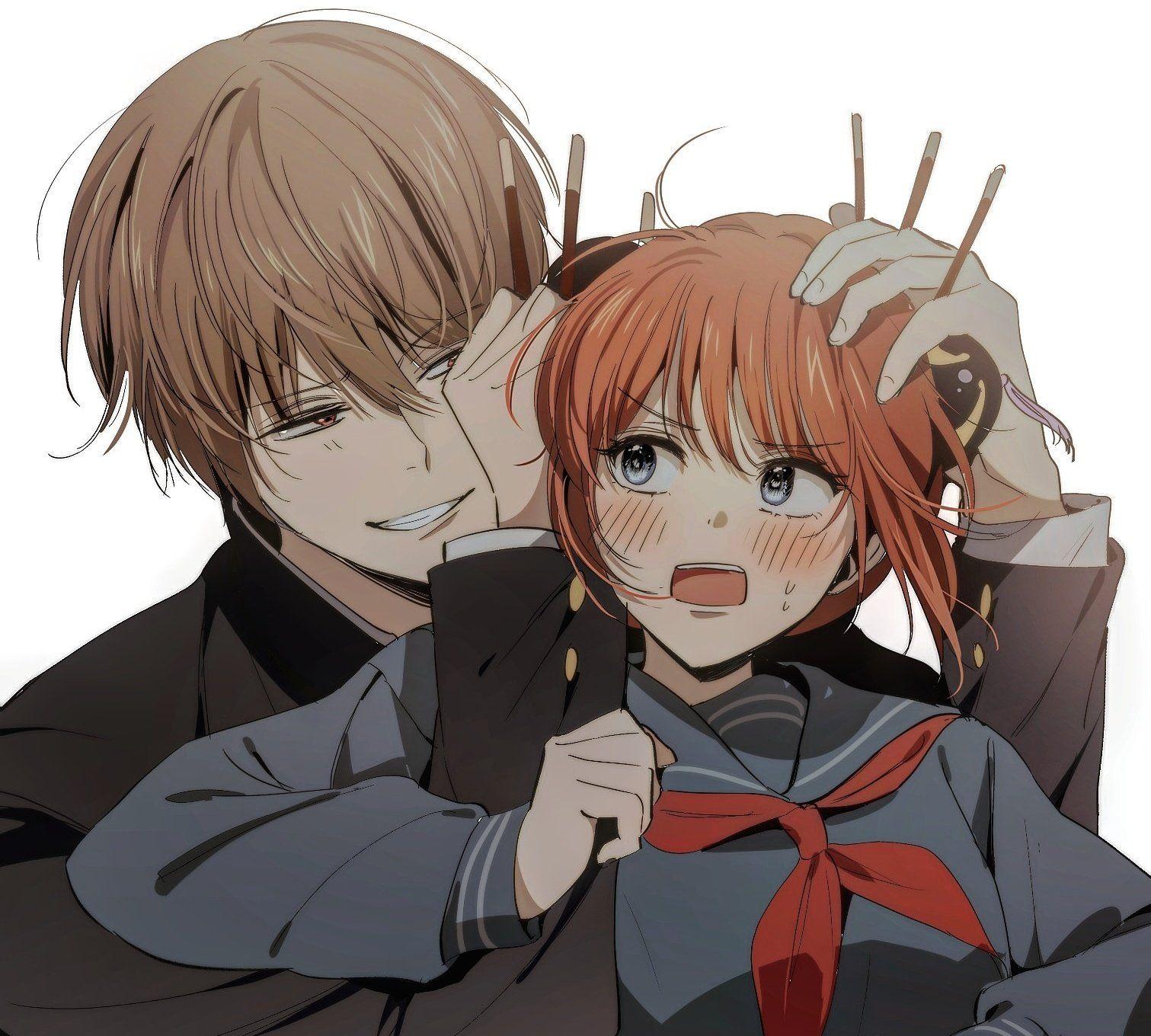 Милые картинки аниме пары (26)