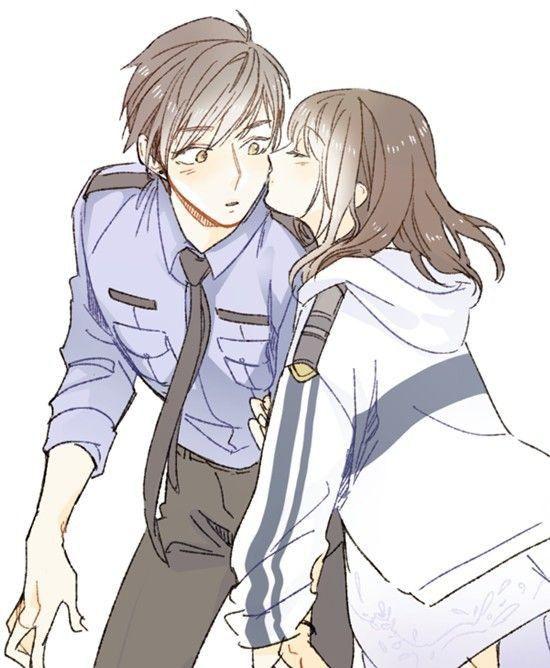 Милые картинки аниме пары (3)