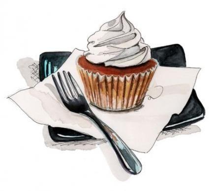 Нарисованные кексы фото (1)