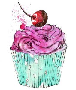 Нарисованные кексы фото (9)