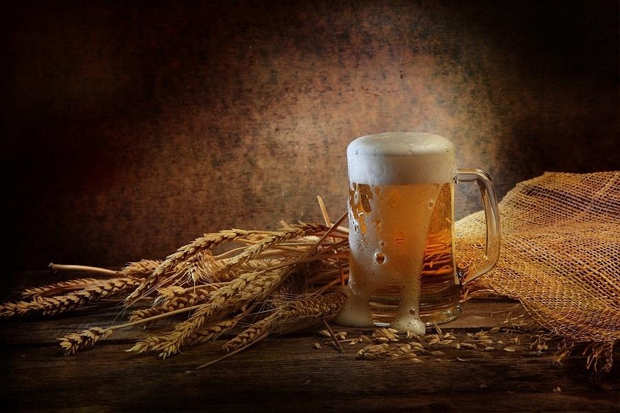 Натюрморт с пивом и рыбой 019