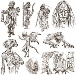 Рисунки монстров для срисовки 028