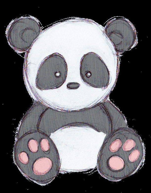 Рисунки панды 001