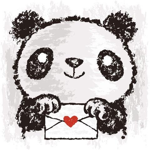 Рисунки панды 029