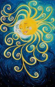 Рисунки солнца и луны 027