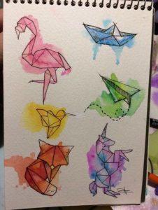 Рисунок в стиле оригами 025