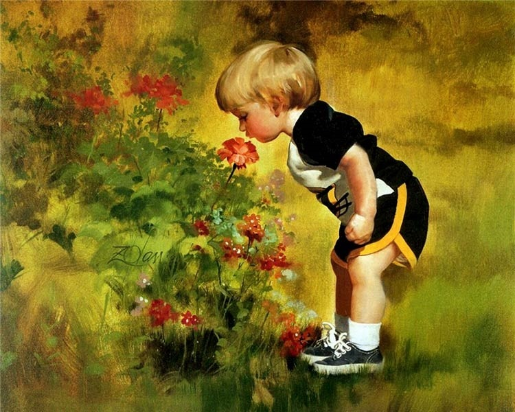 Рисунок маслом для детей 005