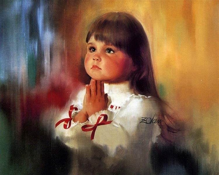 Рисунок маслом для детей 017