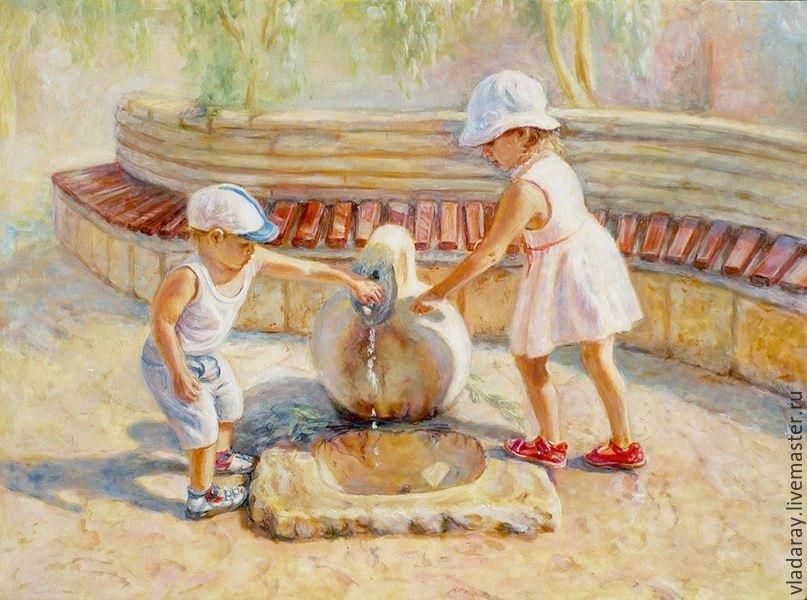 Рисунок маслом для детей 023
