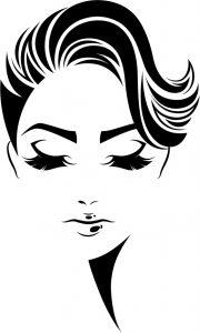 Силуэты лица девушки 026