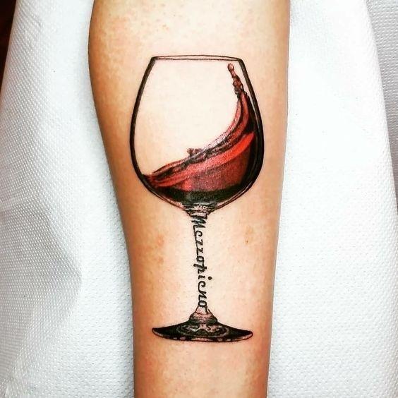 Тату вина 004