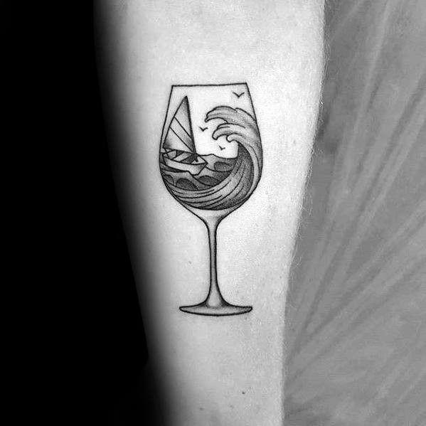 Тату вина 008
