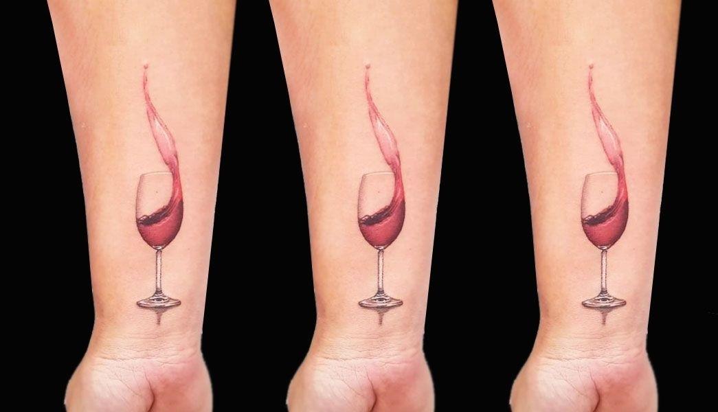 Тату вина 010