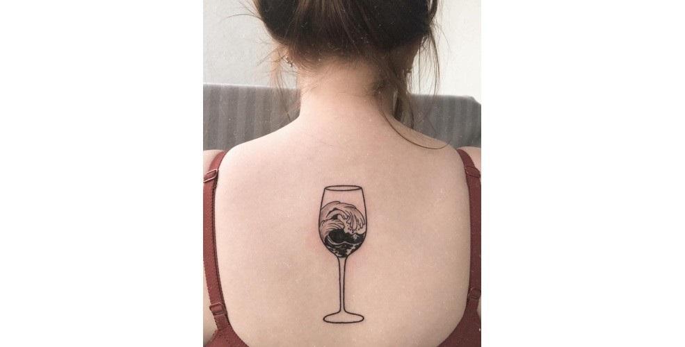 Тату вина 013