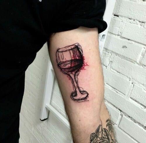 Тату вина 014