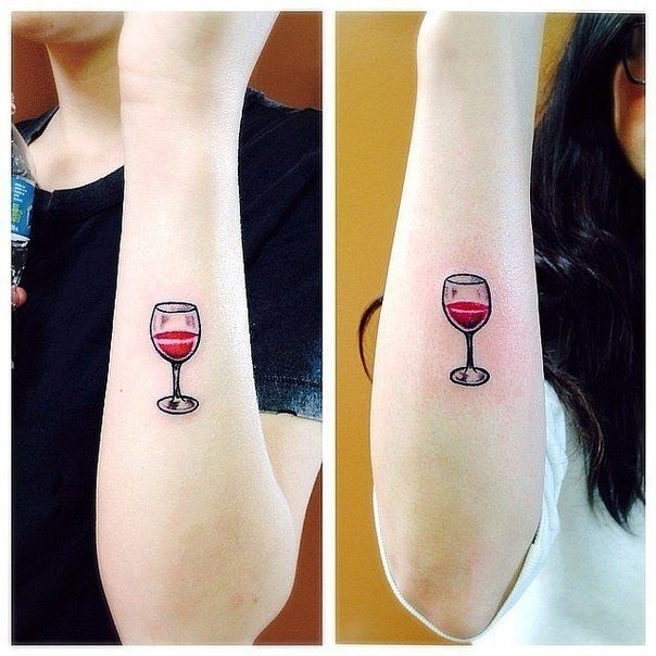 Тату вина 020