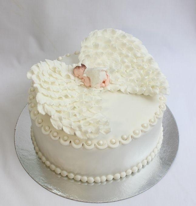 Торт из крема на крестины для девочки 002