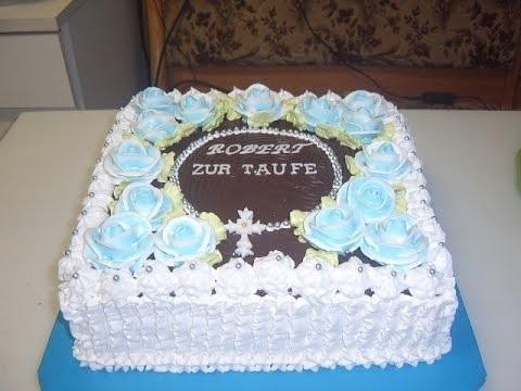 Торт из крема на крестины для девочки 015