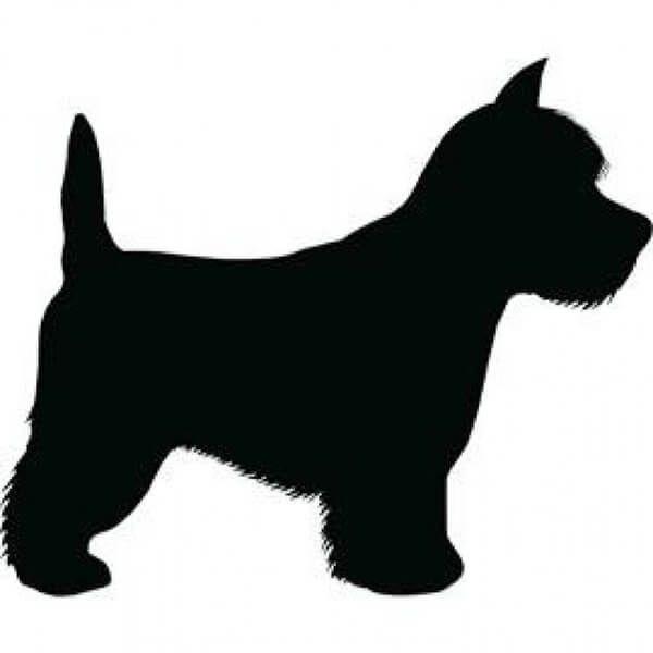 Трафарет собаки 001