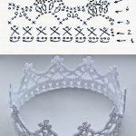 Узор крючком корона — подборка