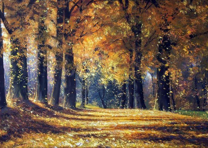 Фото рисунки осенний пейзаж (12)