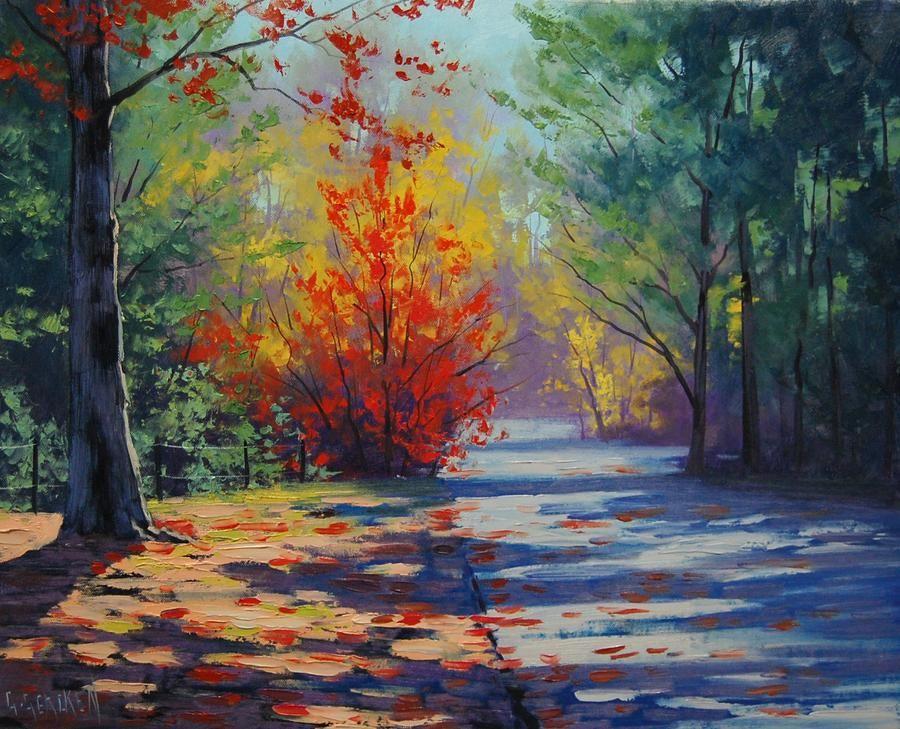 Фото рисунки осенний пейзаж (19)