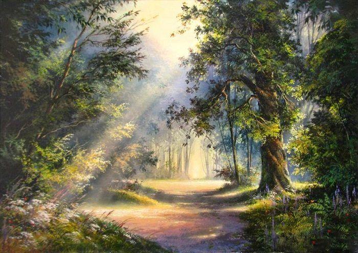 Фото рисунки осенний пейзаж (3)