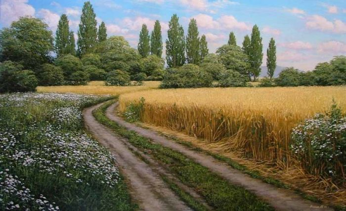 Фото рисунки осенний пейзаж (7)