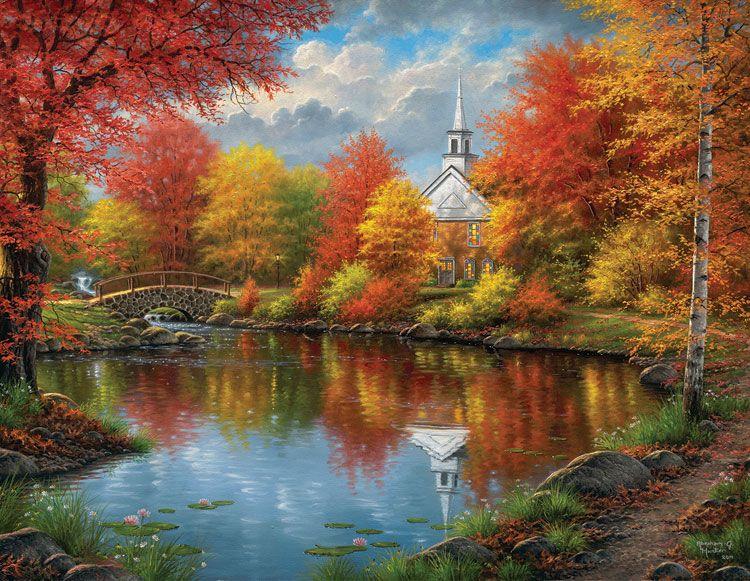 Фото рисунки осенний пейзаж (9)