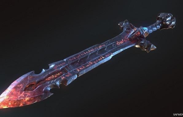 Фэнтези меч арт 001