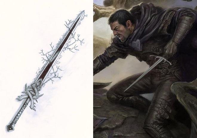 Фэнтези меч арт 002