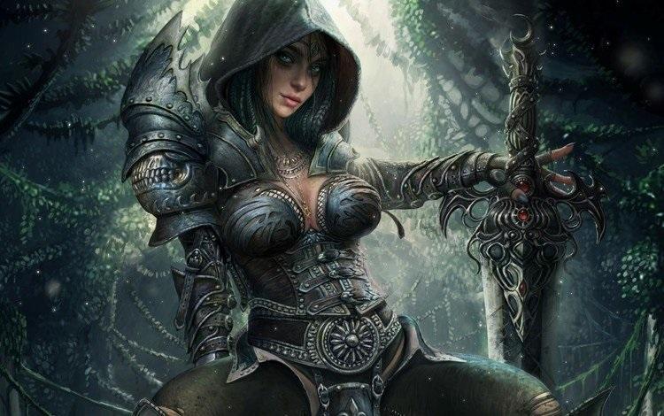 Фэнтези меч арт 003