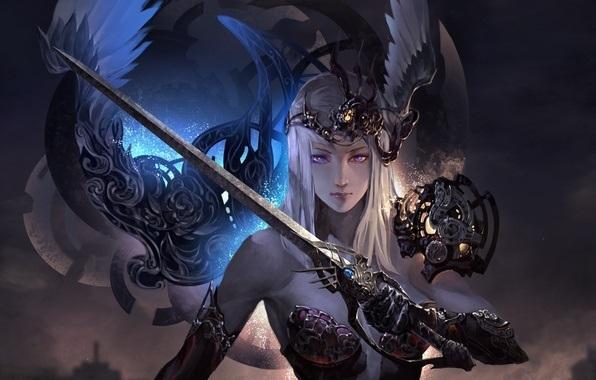 Фэнтези меч арт 008