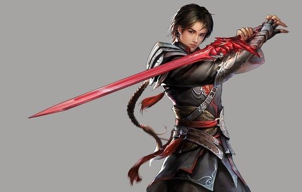 Фэнтези меч арт 009