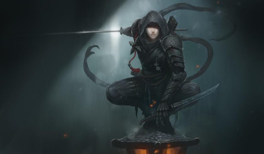 Фэнтези меч арт 010