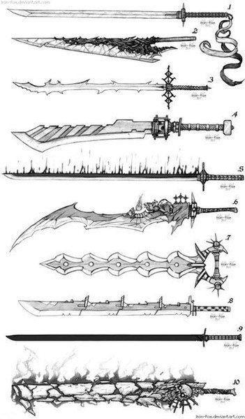 Фэнтези меч арт 014