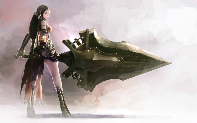 Фэнтези меч арт 016