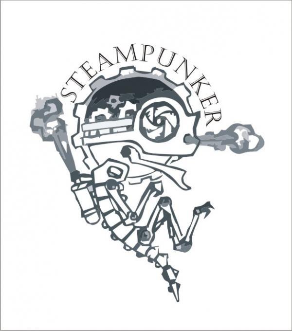 Черно белые рисунки стимпанк 008
