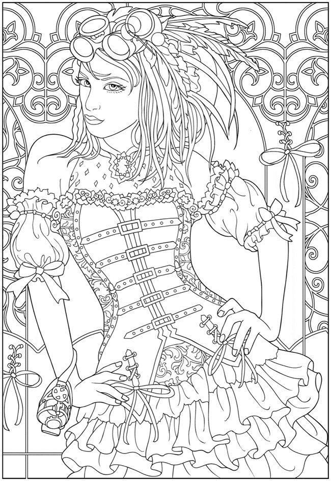 Черно белые рисунки стимпанк 016