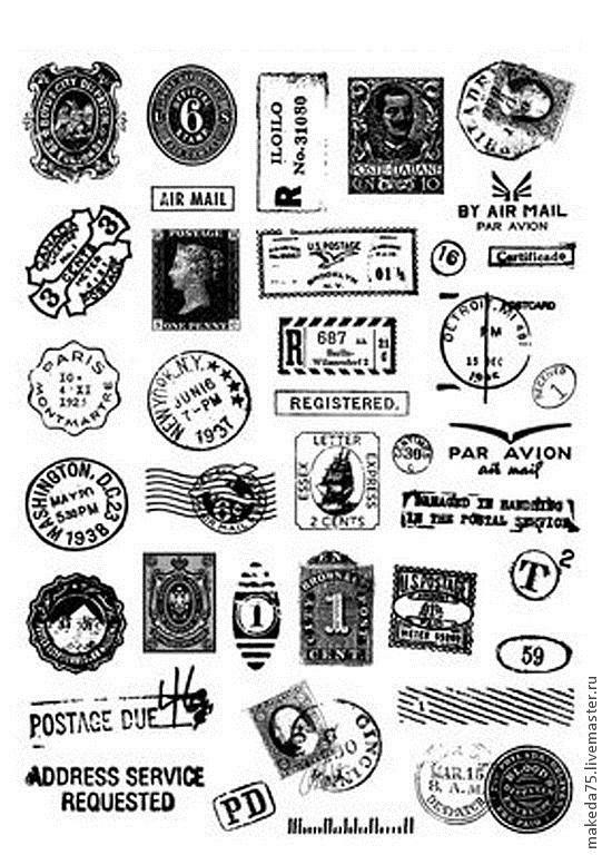 Черно белые стикеры для ежедневника 012