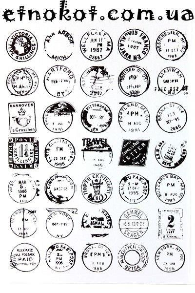 Черно белые стикеры для ежедневника 021